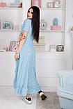 Женский летний легкий сарафан короткий рукав длинный софт размер:42,44,46, фото 8
