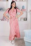 Женский летний легкий сарафан короткий рукав длинный софт размер:42,44,46, фото 4