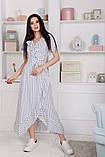Женский летний легкий сарафан короткий рукав длинный софт размер:42,44,46, фото 3
