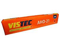 Зварювальні електроди ВИСТЕК АНО-21 д. 3,0 мм уп. 5,0 кг