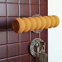 Грипсы, накладки на ручки двери мягкие, защита на ручку двери, кофейная.