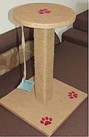 Когтеточка Царапка з цільного колоди з запахом дерева 50см., фото 2