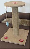 Когтеточка Царапка з цільного колоди з запахом дерева 50см., фото 6