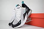 Мужские кроссовки Nike Air Max 270, белые, сетка, фото 2
