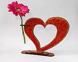 Дерев'яна ваза із візерунком стрінг - арт «Серце»: найкращий подарунок для коханої людини, фото 4