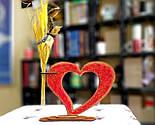 Дерев'яна ваза із візерунком стрінг - арт «Серце»: найкращий подарунок для коханої людини, фото 5