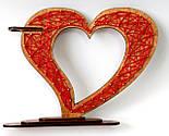 Дерев'яна ваза із візерунком стрінг - арт «Серце»: найкращий подарунок для коханої людини, фото 2