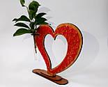 Дерев'яна ваза із візерунком стрінг - арт «Серце»: найкращий подарунок для коханої людини, фото 6