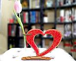 Дерев'яна ваза із візерунком стрінг - арт «Серце»: найкращий подарунок для коханої людини, фото 7