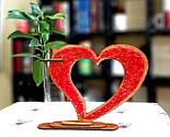 Дерев'яна ваза із візерунком стрінг - арт «Серце»: найкращий подарунок для коханої людини, фото 9
