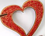 Дерев'яна ваза із візерунком стрінг - арт «Серце»: найкращий подарунок для коханої людини, фото 3