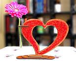 Дерев'яна ваза із візерунком стрінг - арт «Серце»: найкращий подарунок для коханої людини, фото 10