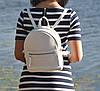 Кожаный женский рюкзак Meri белый, фото 3