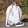 Кожаный женский рюкзак Meri белый, фото 4