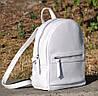 Кожаный женский рюкзак Meri белый, фото 5