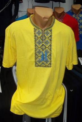 Мужская футболка-вышиванка Батал, фото 2