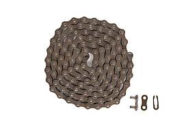 Цепь 1ск. 110зв. КМС S1 с замком (brown/brown)