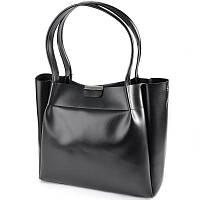 Черная сумка М196-34 деловая шоппер с длинными ручками, фото 1