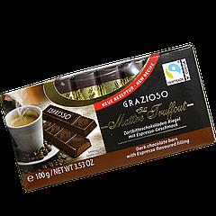 Шоколад Maître Truffout Grazioso порционный с эспрессо 8x12,5g (1уп/16шт)/ Австрия /