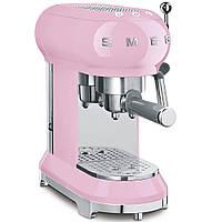 Кофемашина-эспрессо Smeg ECF01PKEU розовая
