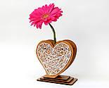 Оригінальна ваза з червоно-білим візерунком «Любляче серце»: вишуканий декор і ідеальний подарунок для коханої, фото 2