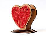 Оригінальна ваза з червоно-білим візерунком «Любляче серце»: вишуканий декор і ідеальний подарунок для коханої, фото 6