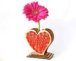Оригінальна ваза з червоно-білим візерунком «Любляче серце»: вишуканий декор і ідеальний подарунок для коханої, фото 10