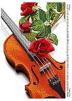 """Схема для частичной вышивки бисером """"Скрипка"""""""