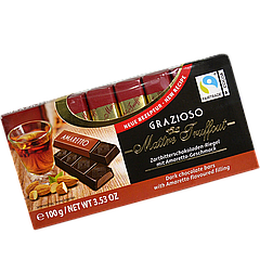 Шоколад Maître Truffout Grazioso порционный с амаретто 8x12,5g (1уп/16шт)/ Австрия /