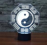 3D светильник  Инь-Янь, фото 1