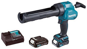 Аккумуляторный пистолет для герметика Makita CG100DWAEA + 2 акб 10.8 V 2 Ah + з/у