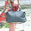 Кожаная женская сумка Барселона зеленая, фото 2