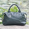 Кожаная женская сумка Барселона зеленая, фото 3