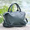 Кожаная женская сумка Барселона зеленая, фото 4