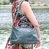 Кожаная женская сумка Барселона зеленая, фото 10