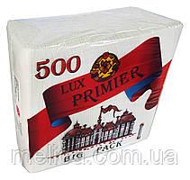Салфетки бумажные Primier Lux Big Pack NEW 23 x 23 однослойные - 500 шт.