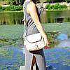 Кожаная женская сумка Марсель пудра, фото 2