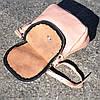 Кожаная женская сумка Марсель пудра, фото 3