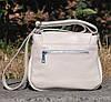 Кожаная женская сумка Марсель молочная, фото 4