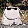 Кожаная женская сумка Марсель молочная, фото 6