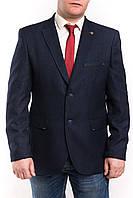 Мужской пиджак тёмно-синего цвета больших размеров Victor Enzo 5010-8490