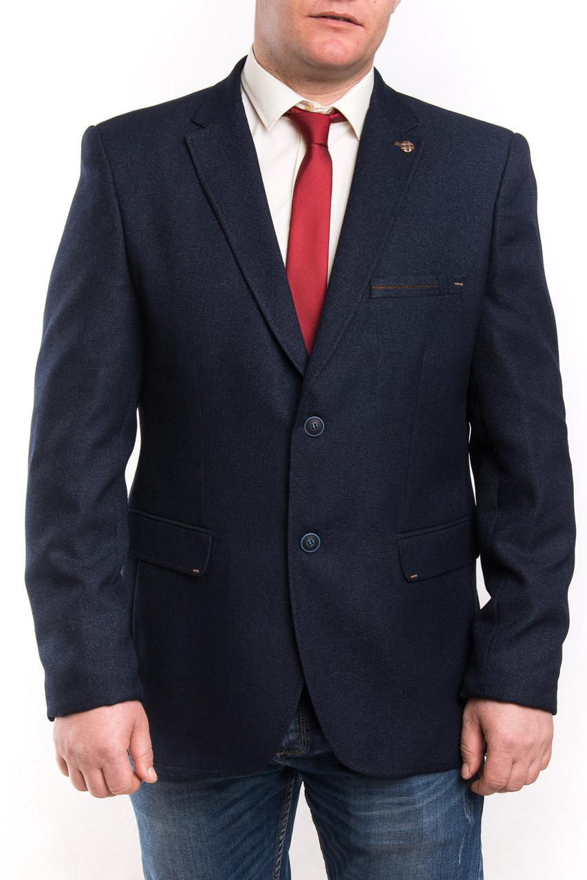 fb8fd643e67 Мужской пиджак тёмно-синего цвета больших размеров Victor Enzo 5010-8490