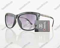 Очки женские солнцезащитные брендовые Chanel (Шанель) - Черные - 97, фото 1
