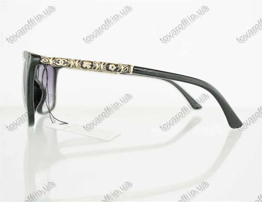 Окуляри жіночі сонцезахисні брендові Chanel (Шанель) - Чорні - 97, фото 2