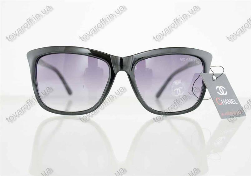 Оптом окуляри жіночі сонцезахисні брендові Chanel (Шанель) - Чорні - 97, фото 2