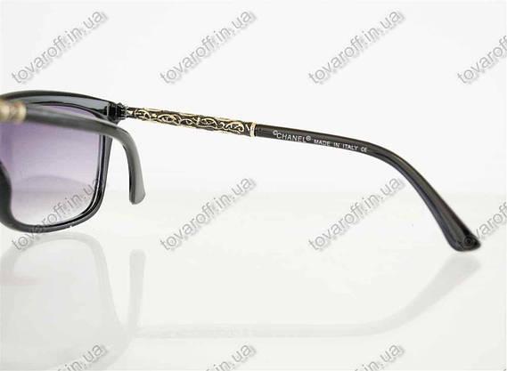 Оптом окуляри жіночі сонцезахисні брендові Chanel (Шанель) - Чорні - 97, фото 3