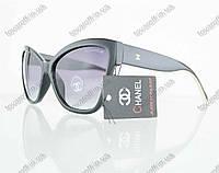 Оптом очки женские солнцезащитные брендовые Chanel (Шанель) - Черные - 5271, фото 1