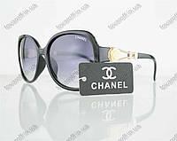 Очки женские солнцезащитные брендовые Chanel (Шанель) - Черные - 302