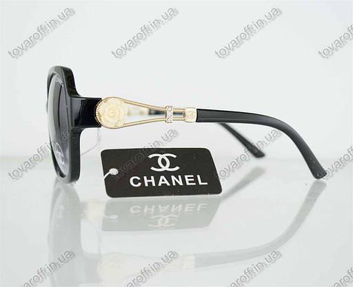 Оптом очки женские солнцезащитные брендовые Chanel (Шанель) - Черные - 302, фото 2