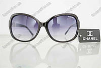 Оптом очки женские солнцезащитные брендовые Chanel (Шанель) - Черные - 8041, фото 1